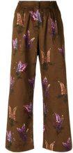 Andrea Marques - palazzo pants - women - Cotone - 36 - BROWN