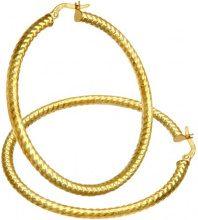 Citerna Orecchini a Cerchio da Donna, Oro Giallo 9 Carati 375, Semplice