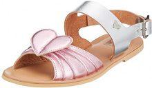 Love Moschino San.LOD./10 Lam.RS/Vac.Lam.ARG, Sandali con Cinturino Alla Caviglia Donna, Multicolore (Pink-Silver), 37 EU