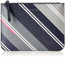 Tommy Hilfiger Love Crossover Print - Borse a tracolla Donna, Grau (Hella Stripes/navy), 2.5x20.5x25.5 cm (B x H T)