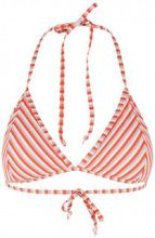 Y.A.S Striped Triangle Bikini Top Women Red