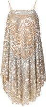 Twin-Set - sequin embellished dress - women - Viscose - 38, 40, 42, 44 - NUDE & NEUTRALS