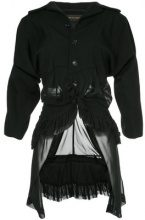 Comme Des Garçons Vintage - Giacca con coda - women - Polyester/Cupro/Wool - S - BLACK