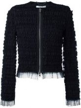 Givenchy - Giacca con volant - women - Silk/Polyamide/Polyester/Spandex/Elastane - 36, 38 - BLACK