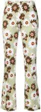 Meme - Pantaloni floreale - women - Cotton/Spandex/Elastane - 42 - GREEN