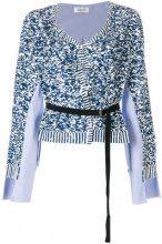 Aviù - Blusa con cintura - women - Cotone/Polyester - 42 - BLUE