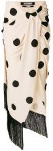 Jacquemus - polka dotted skirt - women - Cotton/Viscose - 40 - NUDE & NEUTRALS