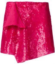 Alberta Ferretti - Minigonna di paillettes - women - Polyamide/PVC/Silk/Acetate - 40, 42 - Rosa & viola