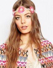 ASOS - Fascia per capelli a fiori con paillettes e perle sintetiche