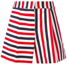 Thom Browne - striped mini shorts - women - Cotton/Silk - 42, 44 - RED
