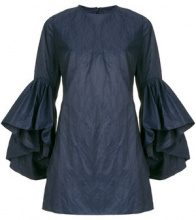 Marques'almeida - Blusa con maniche con ruche - women - Cotone/Polyamide/Metallic Fibre - S, XS, M - Blu