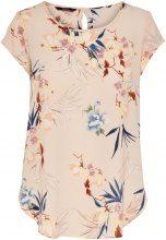 ONLY Flower Printed Short Sleeved Top Women Beige