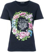 Alexander McQueen - floral print T-shirt - women - Cotone - 36, 40, 42 - Blu