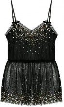 Twin-Set - Top con paillettes - women - Polyester - 38, 42, 44, 46, 48 - Nero