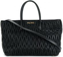 Miu Miu - Borsa tote in matelassé - women - Leather - One Size - BLACK