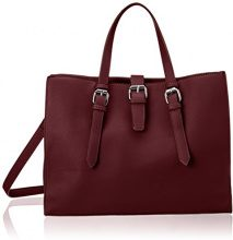 PIECES Pcjune Shopper - Borsette da polso Donna, Rot (Port Royale), 14x26x35 cm (B x H T)