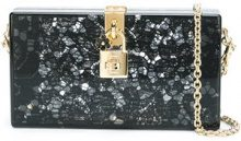 Dolce & Gabbana - Dolce Box clutch - women - Acrylic/metal/Cotton - One Size - BLACK