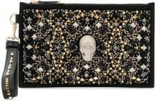 Philipp Plein - Borsa Clutch - women - Calf Leather/Polyester - OS - BLACK
