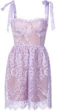 For Love And Lemons - lace mini dress - women - Cotton/Nylon - S - PINK & PURPLE