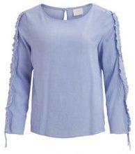 VILA Sleeve Detailed 3/4 Sleeved Top Women Blue