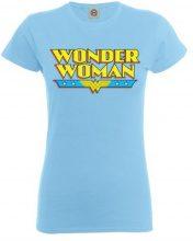 DC Comics - Maglietta, Manica corta, Donna, blu (Sky Blue), XL