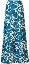 La Doublej - Pantaloni palazzo 'Lilium' - women - Silk - S - BLUE