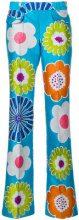 Talbot Runhof - Pantaloni con motivo floreale - women - Polyester/Cotone/Silk - 38, 46 - BLUE