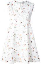 Carven - sleeveless floral print dress - women - Polyester/Acetate/Silk - 40 - Bianco