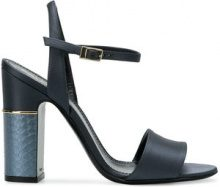 Pollini - textured-heel sandals - women - Leather/Polyurethane - 36, 37, 39, 40, 41 - BLUE