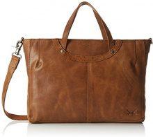 Sansibar Zip Bag - Borse a secchiello Donna, Braun (Cognac), 6x25x33 cm (B x H T)