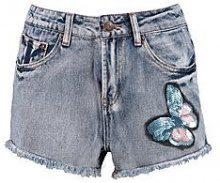Ana corrine pantaloncini corti in denim ricamati con farfalla