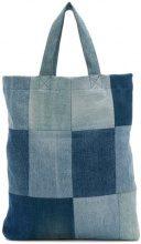 6397 - Borsa in denim patchwork - women - Cotton/Spandex/Elastane - OS - BLUE