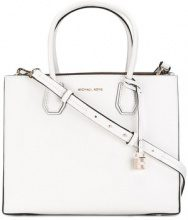 Michael Michael Kors - Borsa tote 'Mercer' - women - Leather - One Size - Bianco