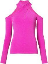 Milly - Camicia con collo incrociato - women - Viscose/Spandex/Elastane - XS, M - PINK & PURPLE