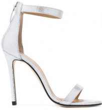 Marc Ellis - metallic ankle strap sandals - women - Leather/rubber - 40, 36, 37, 39, 41 - GREY