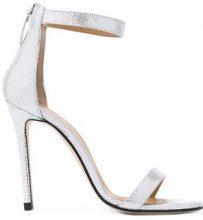 Marc Ellis - metallic ankle strap sandals - women - Leather/rubber - 36, 37, 39, 41 - GREY