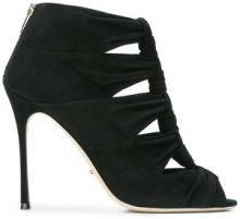 Sergio Rossi - knotted high heel sandals - women - Suede/Leather - 37, 38.5, 38, 36, 40 - Nero