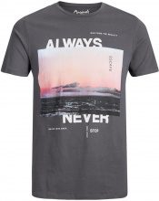 JACK & JONES Graphic T-shirt Men Grey