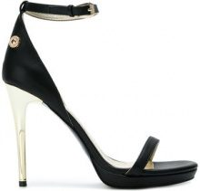 Versace Jeans - ankle strap sandals - women - Leather/Synthetic Resin/rubber - 36, 37, 38, 39 - BLACK