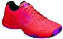 Wilson Kaos Comp W Radiant.r/Coral Punc/PK - Scarpe da Tennis Donna, Multicolore (Radiant Red X166), Taglia 37 EU