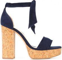 Alexandre Birman - Celine sandals - women - Suede/Cork/Leather - 7, 7.5, 8.5 - BLUE
