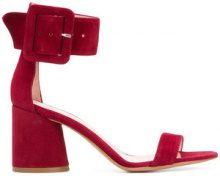 Anna F. - buckle ankle sandals - women - Leather/Suede - 35, 36, 37, 39, 40 - RED