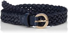 PIECES Pcnita Leather Jeans Belt, Cintura Donna, Blu (Navy Blazer), 90
