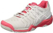 Asics Gel-Resolution 7, Scarpe da Tennis Donna, Grigio (Glacier Grey/White/Rouge Red), 39.5 EU