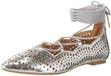 Buffalo Shoes 327909 Hm20108-6 1# Met PU, Sandali con Zeppa Donna, Argento (Silver), 36 EU