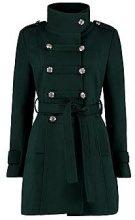 Jade cappotto effetto lana stile militare