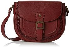 Fly London Zeek602fly - Borse a tracolla Donna, Red (Cordoba Red), 4x20x24 cm (W x H L)
