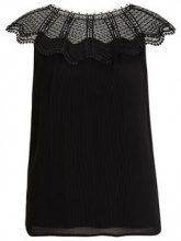 VILA Lace Sleeveless Top Women Black