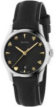 Gucci - Orologio 'G-Timeless 27mm' - women - Leather/Steel - OS - Nero