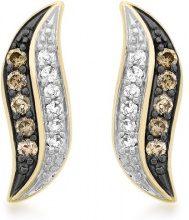 Carissima Gold Orecchini a Perno da Donna, Oro Giallo 9K (375), con Diamante